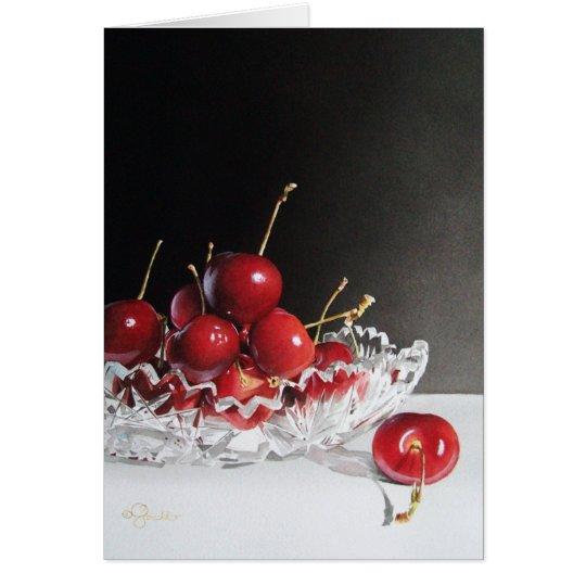 Cherries & Crystal Greeting Card