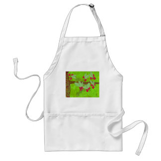 cherries design, asian influence adult apron
