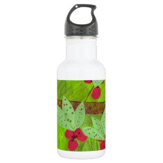 cherries design, asian influence water bottle