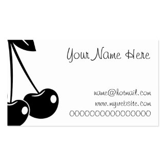 Cherries Double-Sided Standard Business Cards (Pack Of 100)