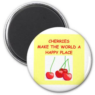 cherries fridge magnets