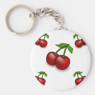 Cherries Galore Design Basic Round Button Keychain