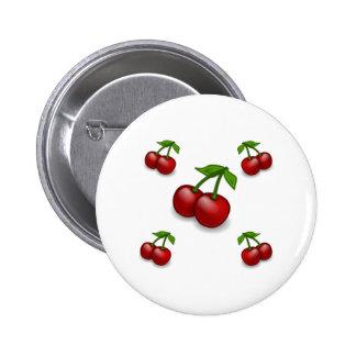 Cherries Galore Design 2 Inch Round Button