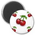 Cherries Galore Design Refrigerator Magnets