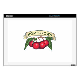 """CHERRIES HOMEGROWN DECALS FOR 17"""" LAPTOPS"""