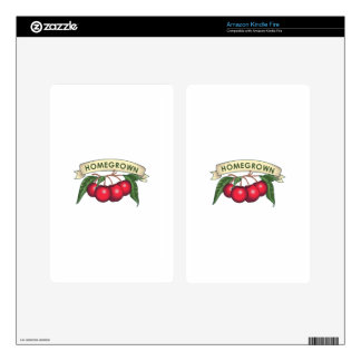 CHERRIES HOMEGROWN DECALS FOR KINDLE FIRE