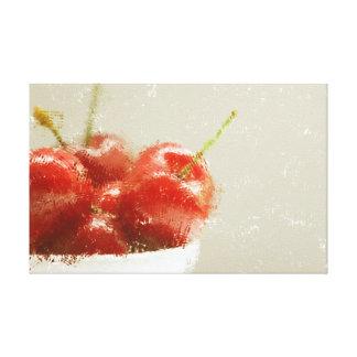 Cherries in A bowl Canvas Print