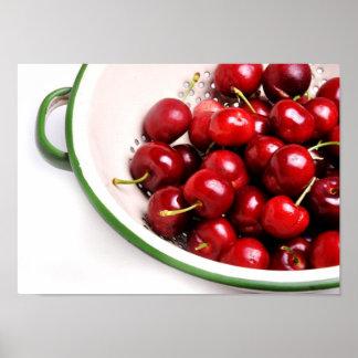 Cherries in a Bowl Print
