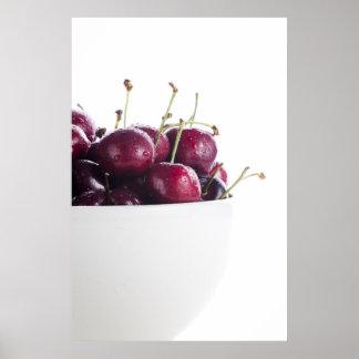 Cherries in Bowl Print