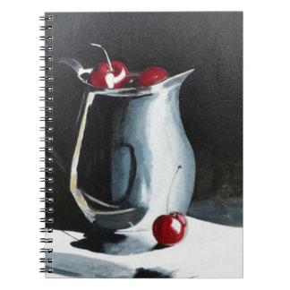 Cherries in pewter note book