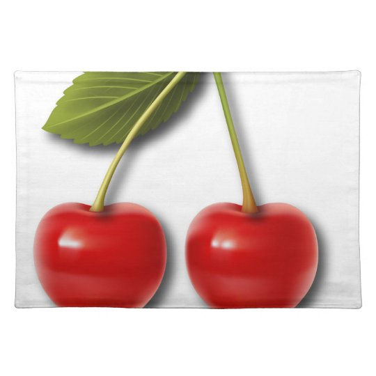 Cherries Jubilee 10 Cloth Placemat