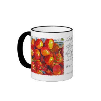 Cherries Jubilee Ringer Coffee Mug