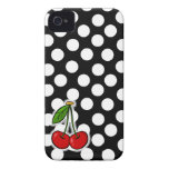 Cherries; Large Polka Dot iPhone 4 Case-Mate Case
