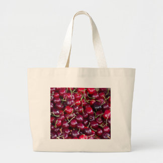 cherries large tote bag