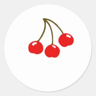 Cherries magnet round stickers