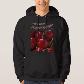 Cherries mens hoodie