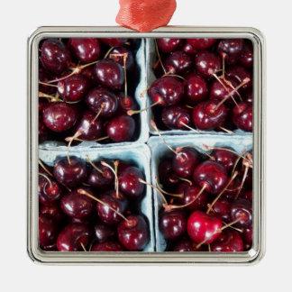 cherries metal ornament