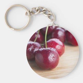 Cherries on Cutting Board Keychain