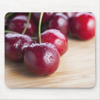 Cherries on Cutting Board Mousepad