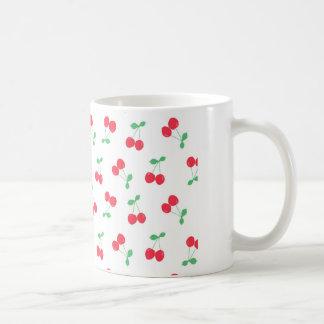 Cherries on White Mug
