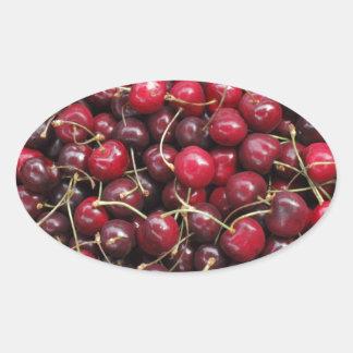 Cherries Oval Sticker