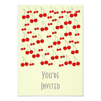 Cherries Pattern. Card
