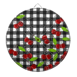 Cherries pattern dart board