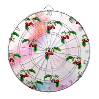 CHERRIES PATTERN DART BOARDS