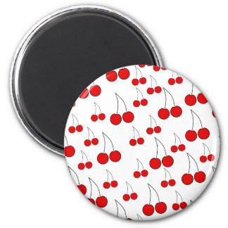 Cherries Pattern. Magnets