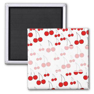 Cherries Pattern. Refrigerator Magnets