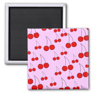 Cherries Pattern. Fridge Magnets