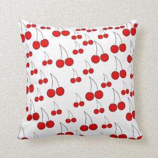 Cherries Pattern. Throw Pillows