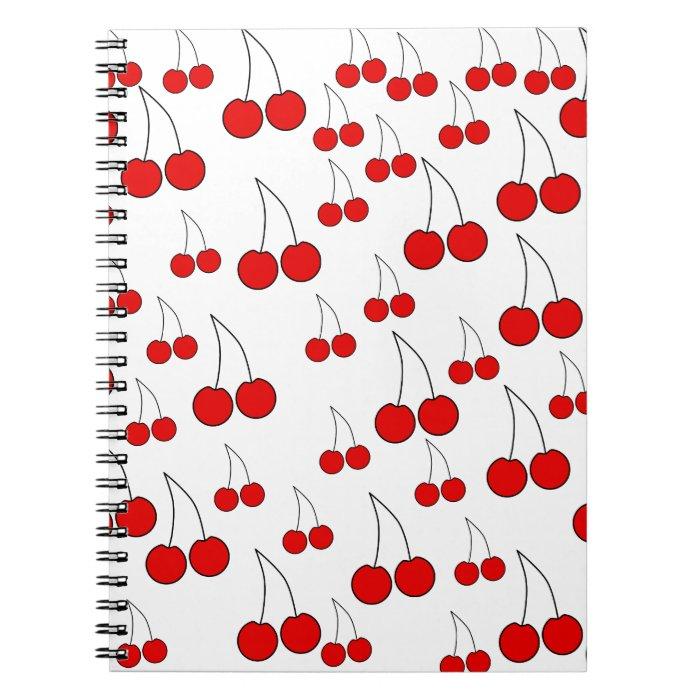 Cherries Pattern. Spiral Notebook