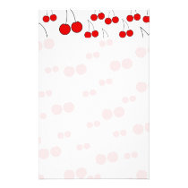 Cherries Pattern. Stationery