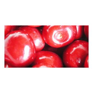 cherries custom photo card