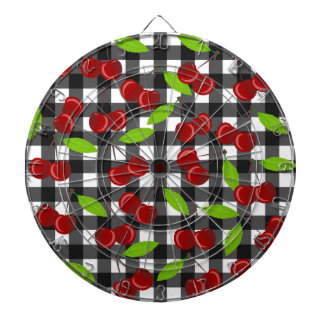 Cherries plaid pattern dartboard