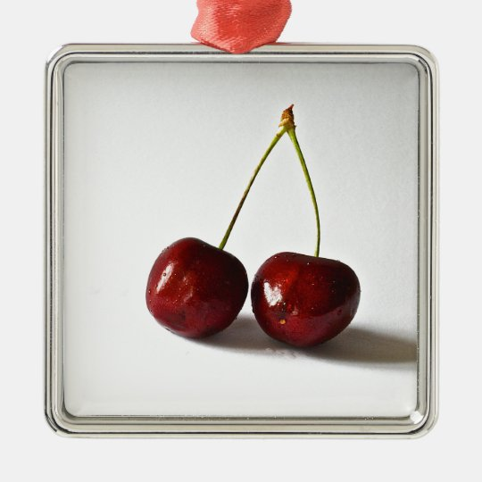 Cherries Products Metal Ornament