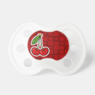 Cherries; Red Squares BooginHead Pacifier