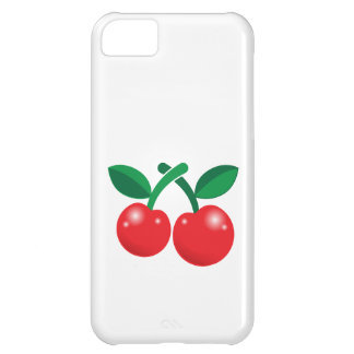 Cherries red with two and stalks case for iPhone 5C