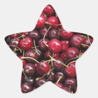 Cherries Star Sticker