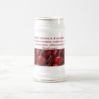 Cherries stein 18 oz beer stein