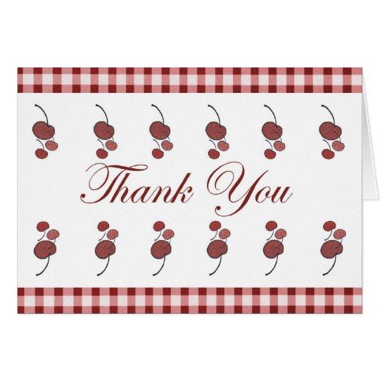 Cherries Thank You Card