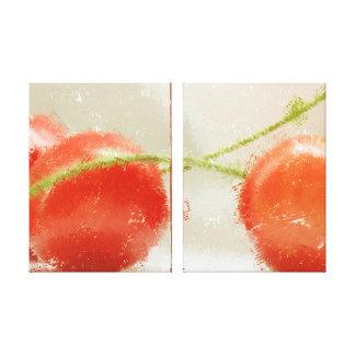 Cherries two canvas print