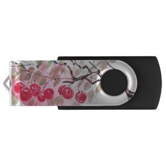 Cherries Watercolor Art USB Drive