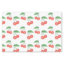 Cherries watercolor pattern tissue paper