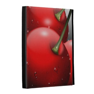 Cherries with Dew Caseable iPad Cases