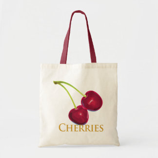 Cherries with Stems Tote Bags