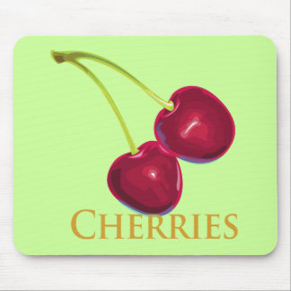 Cherries with Stems Mouse Pads