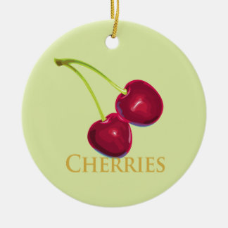 Cherries with Stems Ornament