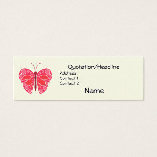 Cherry 60s Whimsical Butterfly Mini Business Card